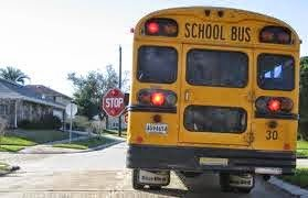 After school bus stopping