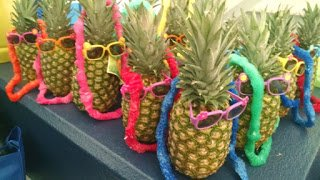 Pineapple party favors - Creative ideas for what to give out at kids birthday parties.