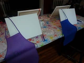 birthday party idea - painting party