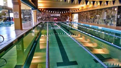 5 lane lap pool at Lifetime Fitness