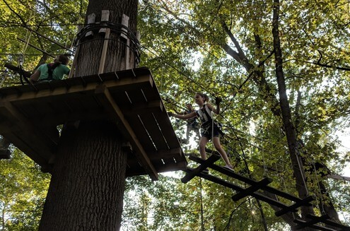 Birthday Party Places in Maryland - Zip Line Party