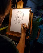 hire a caricature artist for birthday parties