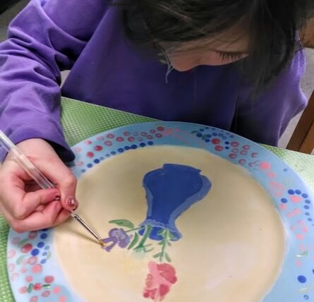 Pottery painting birthday party