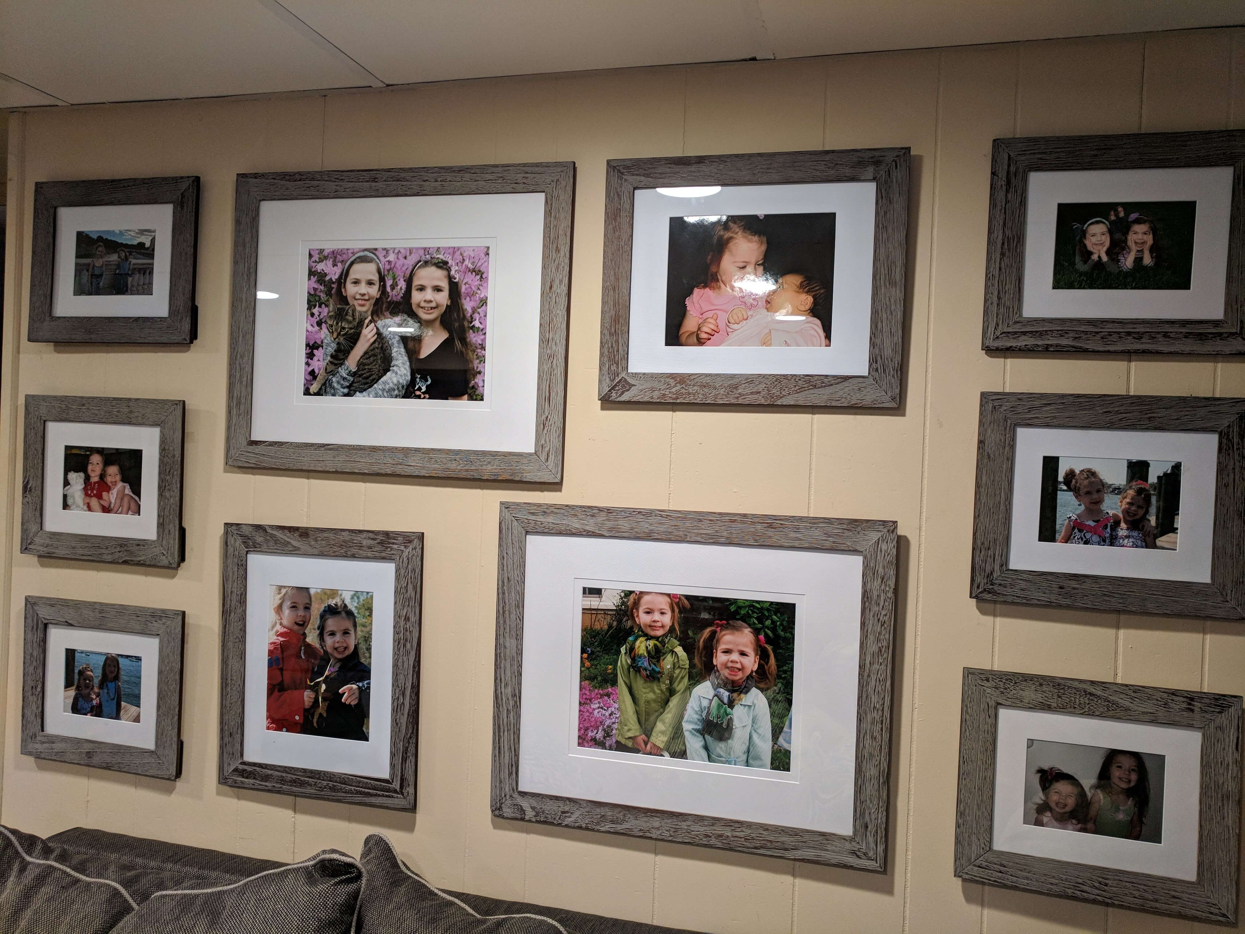 Photo Wall of Childhood Pictures